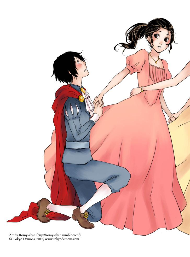 Kiyoshi and Mai, distilled to one image.